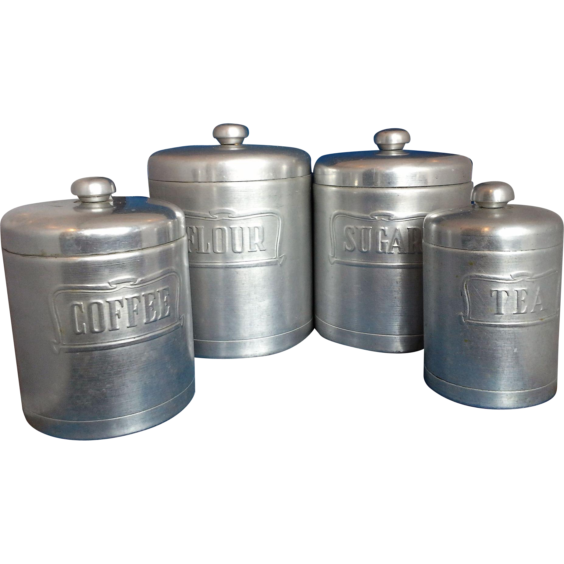 heller hostess ware spun aluminum kitchen canister set kitchen storage canisters homes and garden journal