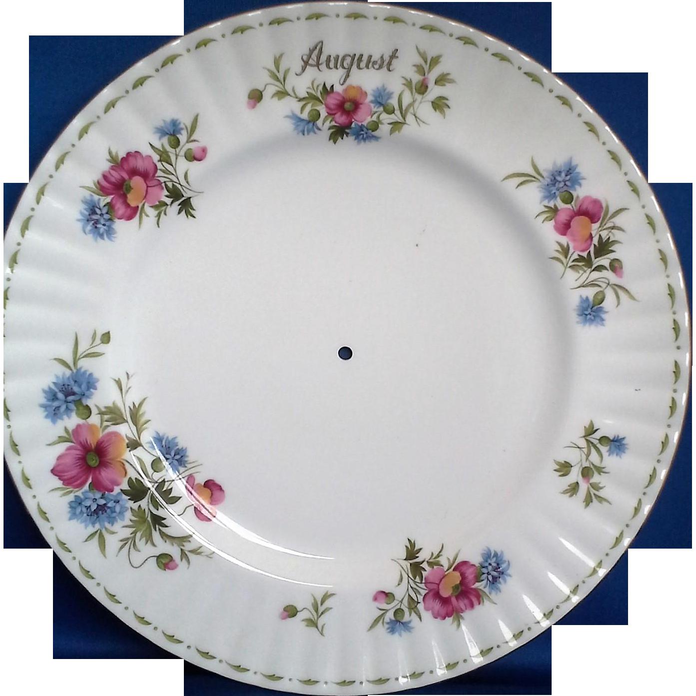 Royal Albert Poppy August Flower of the Month Tidbit Tray Dinner Plate Only