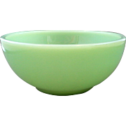 Fire-King Jadeite Chili Bowl Green Glass Anchor Hocking Oven Ware