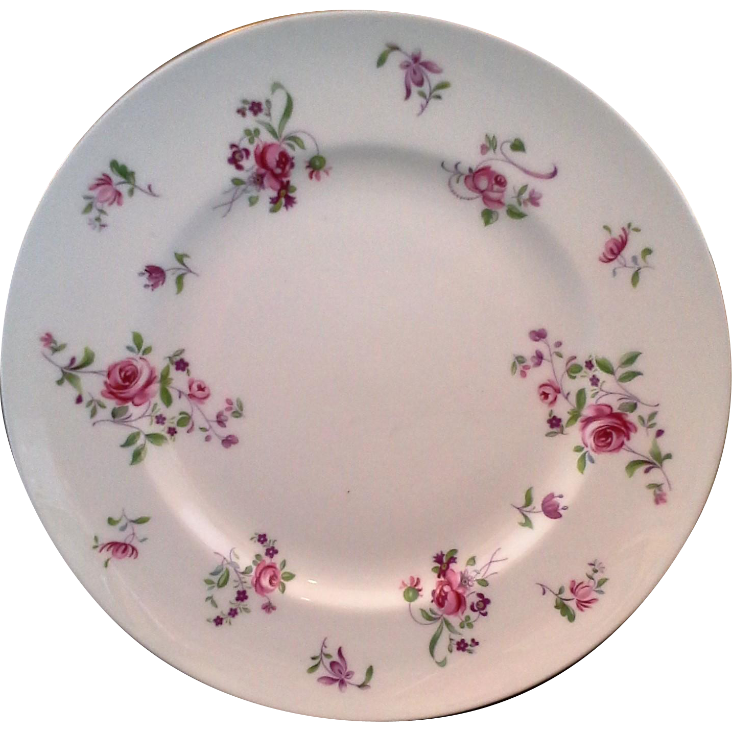 Royal Victoria Pink Roses Floral Bone China Salad Plate 8 IN