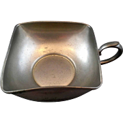 Royal Holland Daalderop KMP Square Pewter Nappy Handled Bowl
