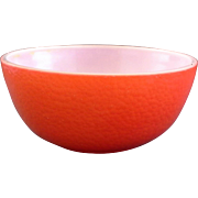 Hazel Atlas Red Pebbled Cereal Bowl