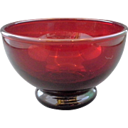 Royal Ruby Baltic Sherbet Cup 6 oz Anchor Hocking Red Glass