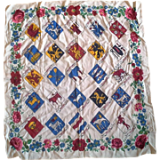 Sweden Souvenir Scarf Swedish Provinces Crests 25 IN