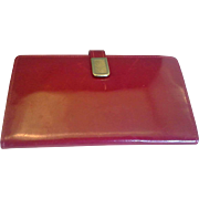 Red Patent Leather Wallet Clutch Spain - Red Tag Sale Item