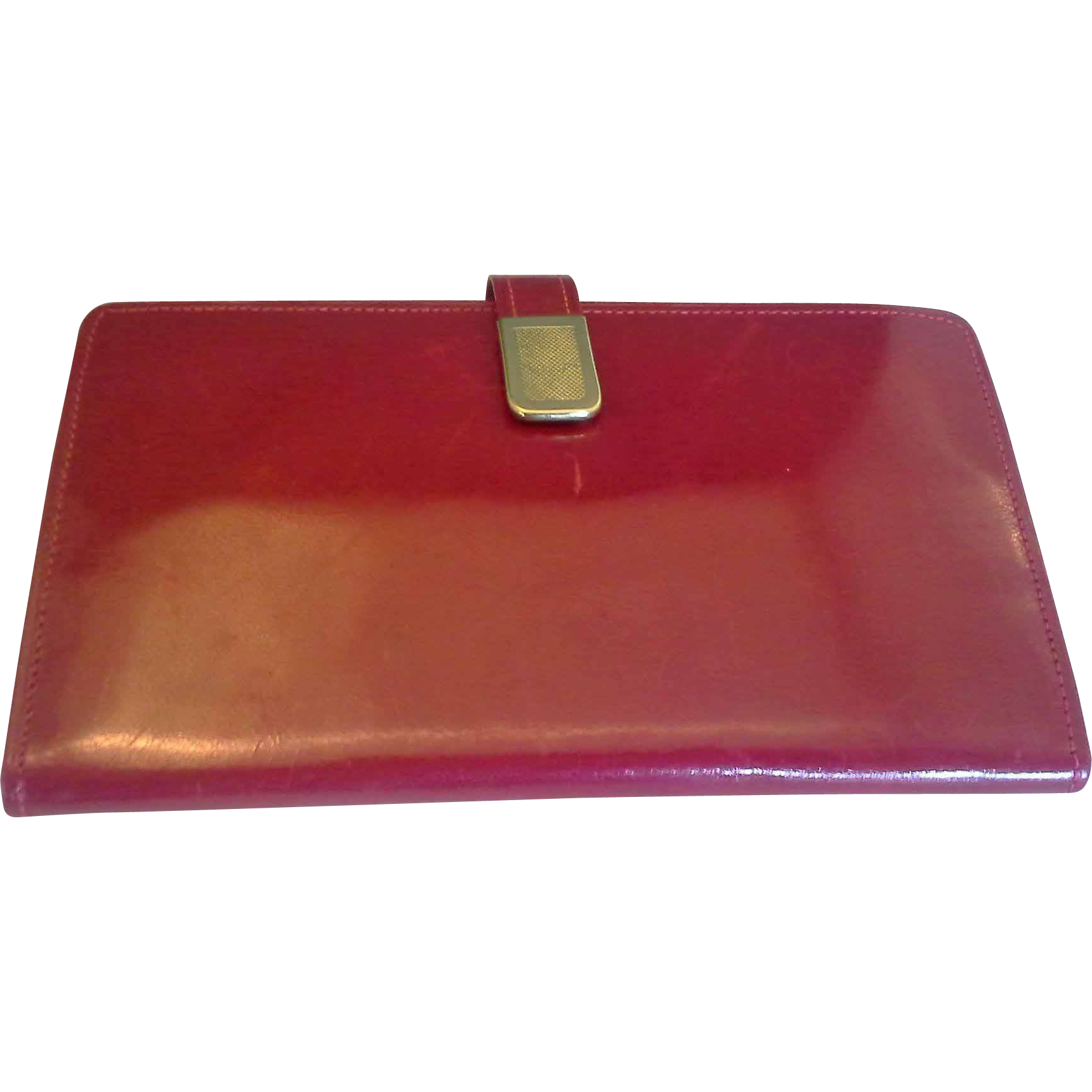 Red Patent Leather Wallet Clutch Spain