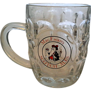 Mac Ewan's MacEwans Scotch Ales Glass Beer Mug England