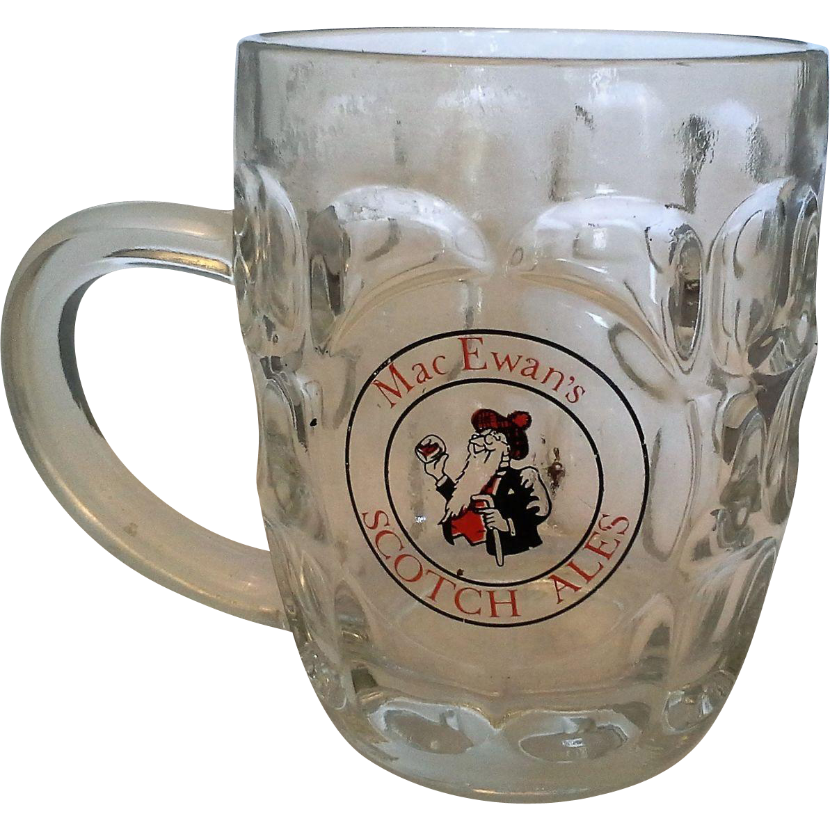 Mac Ewan's MacEwans Scotch Ales Glass Beer Mug England