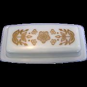 Pyrex Butterfly Gold Butter Dish 1/4 Lb