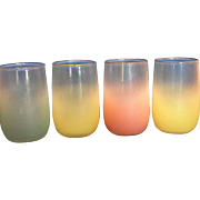 Blendo Pastel Juice Glasses Set of 4 Yellow Pink Blue