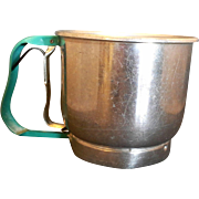 Foley Turquoise Handle 5 Cup Sifter Aluminum