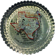 Texas Sesquicentennial Commemorative Glass Paperweight JAS 1985