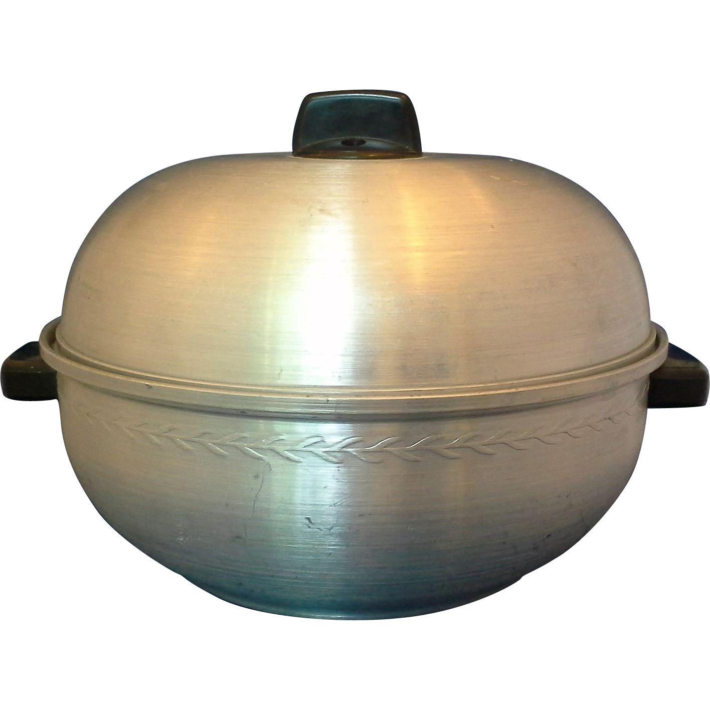 West Bend Spun Aluminum Bun Warmer 1950s