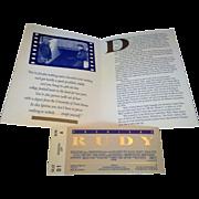 Ruby Movie Premiere Ticket Program 1993 Morris Civic Auditorium South Bend, IN