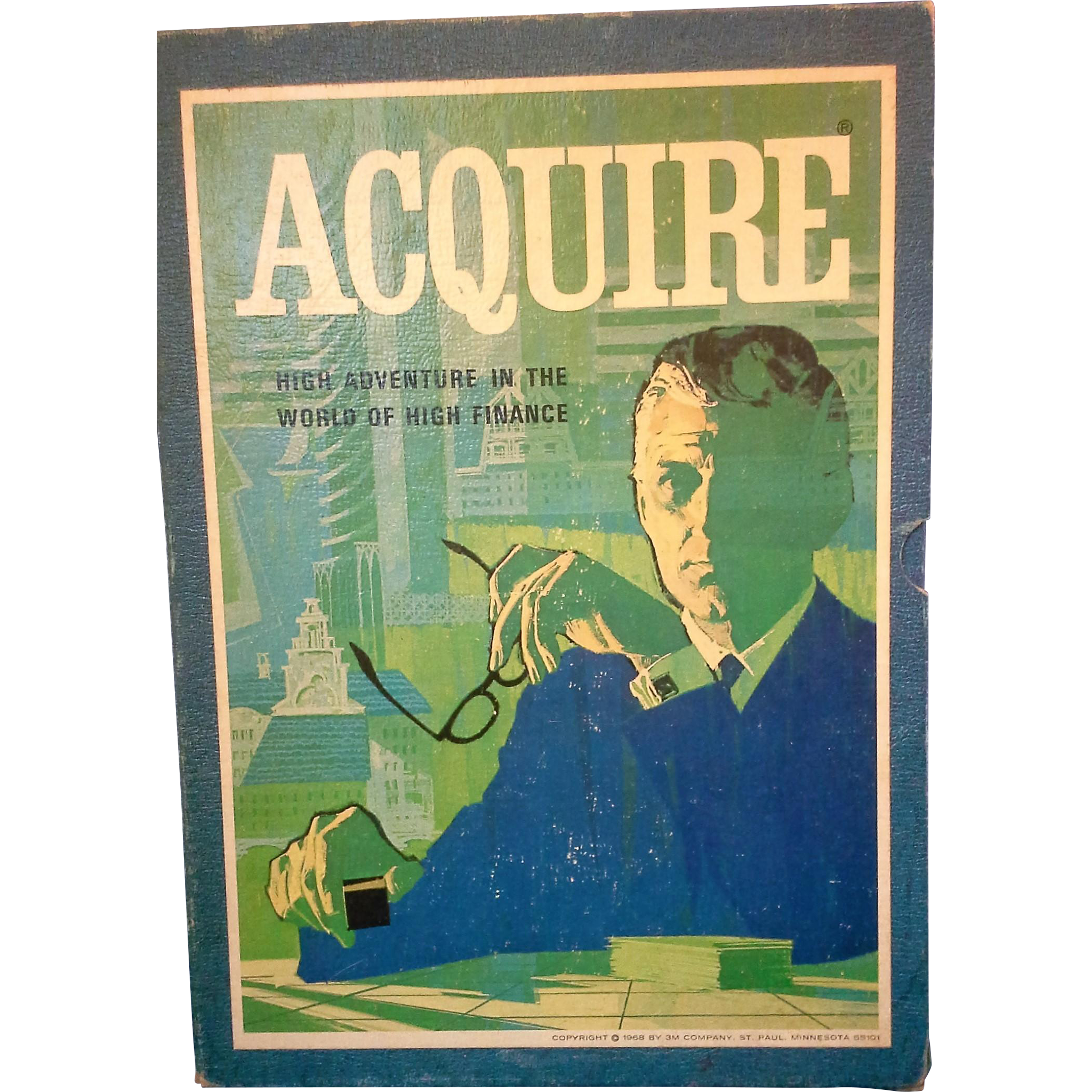 Acquire High Adventure in the World of High Finance 3M Vintage Board Game 1968