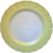 Cremax Bordette Yellow Rim MacBeth-Evans Lunch Plate