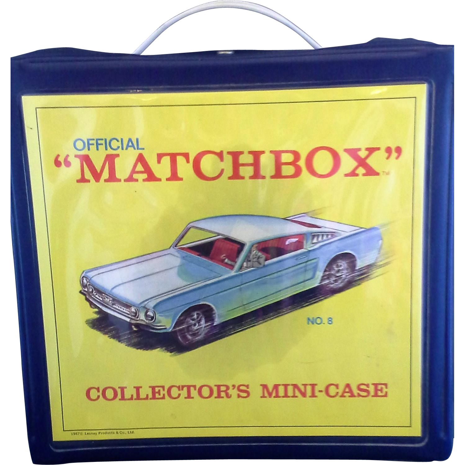 Matchbox Collectors Mini Case No 8 1967 Lesney Products 18 Slots