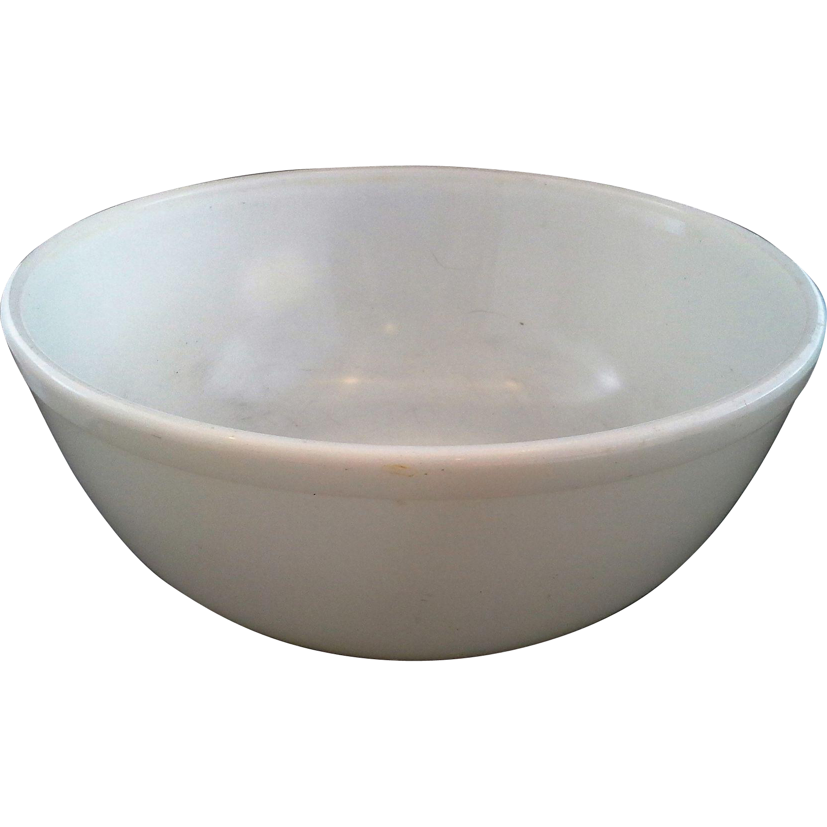 Pyrex Opal White Milk Glass 404 4 Qt Mixing Bowl Unmarked Rare