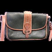 Dooney & Bourke Original Green All Weather Leather Equestrian Shoulder Bag Vintage