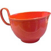 Dansk Gourmet Designs Red Melmac Batter Bowl 3.5 Qt Mixing Pouring