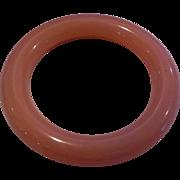 Rose Pink Lucite Bangle Domed Bracelet