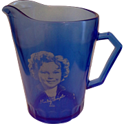 Shirley Temple Creamer Hazel Atlas Cobalt Ritz Blue