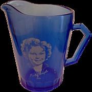 Shirley Temple Creamer Hazel Atlas Cobalt Ritz Blue