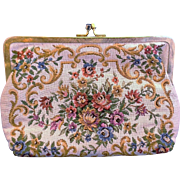 Walborg Petit Point Tapestry Convertible Clutch Purse