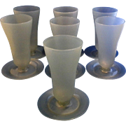 Tupperware754 Gray Blue Parfait Sundae Glasses Set of 7