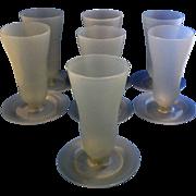 Tupperware 754 Gray Blue Parfait Sundae Glasses Set of 7