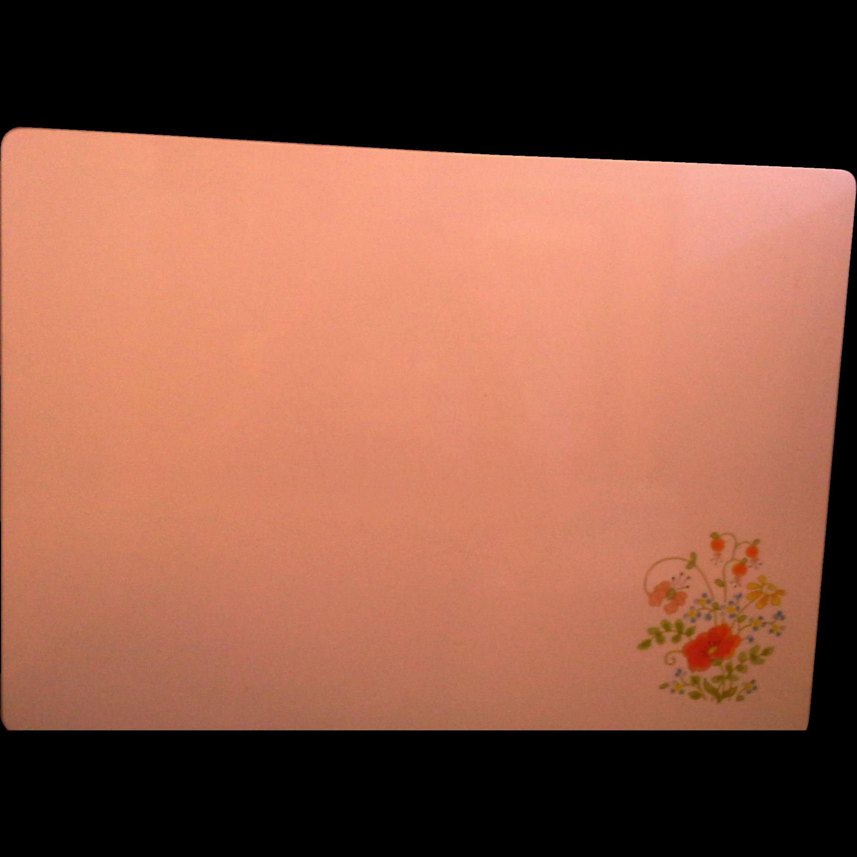 Corning Wildflower White Counter Saver 10 x 14 Cutting Board Trivet