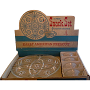 EAPC Early American Prescut Anchor Hocking 8 Pc Snack Set Still in Box