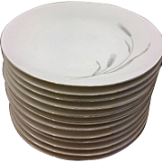 Johann Haviland Silver Wheat Dinner Plates Set of 12