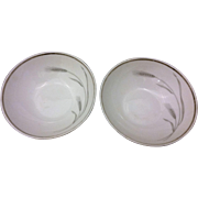 Johann Haviland Silver Wheat Berry Bowl Pair