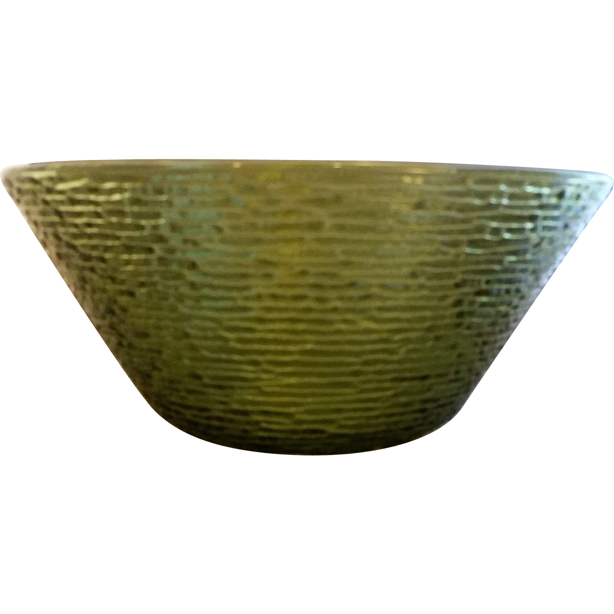 Anchor Hocking Soreno Avocado Green Large Salad Serving Bowl