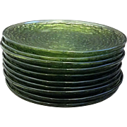 Avocado Green Soreno Salad Plates Set of 10