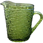 Soreno Avocado Green Creamer Anchor Hocking