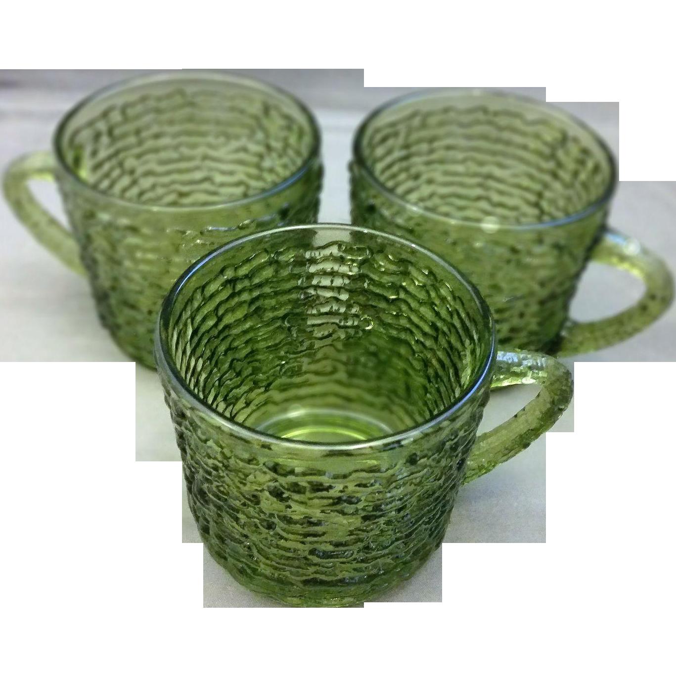 Soreno Avocado Green Cups Set of 3