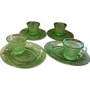 Tiara Exclusives Chantilly Green Sandwich Snack Set 8 Pcs