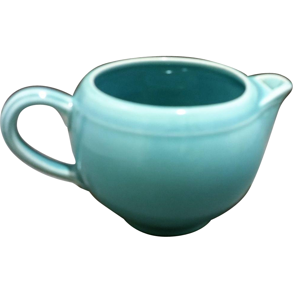 Early California Pottery Light Blue Creamer Metlox Poppytrail Vernon