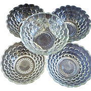 Anchor Hocking Clear Bubble Dessert Bowls Set of 5