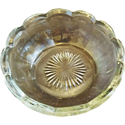 Fairfield Clear Glass Fruit Dessert Bowl Anchor Hocking
