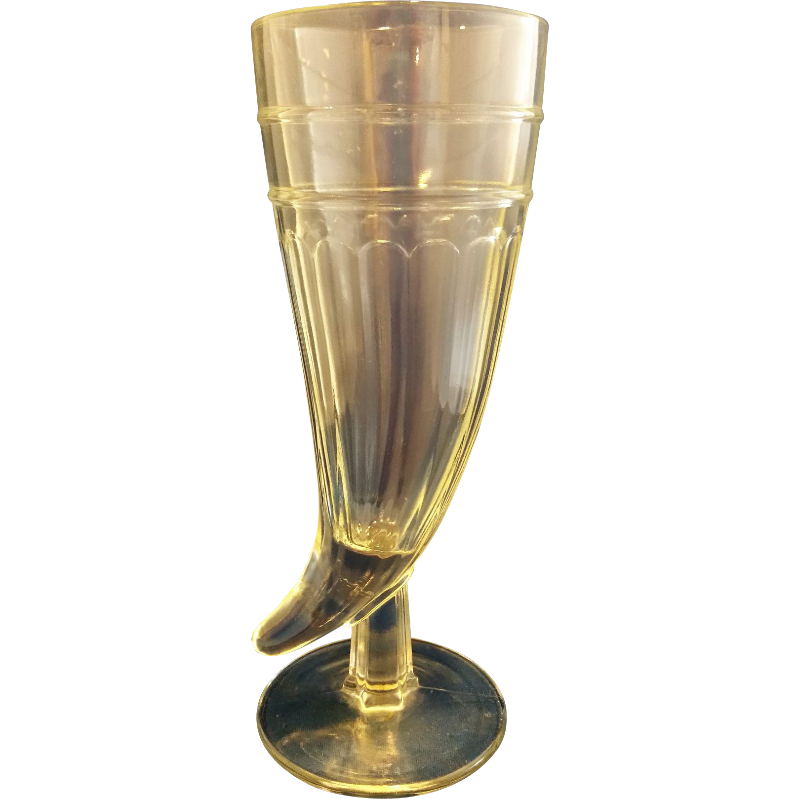 Powder Horn Pilsner Beer Glass Clear
