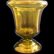 Indiana Glass Olive Green Urn Vase
