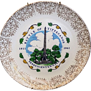 Battle of Tippecanoe Sesquicentennial 1811 1961 Commemorative Plate