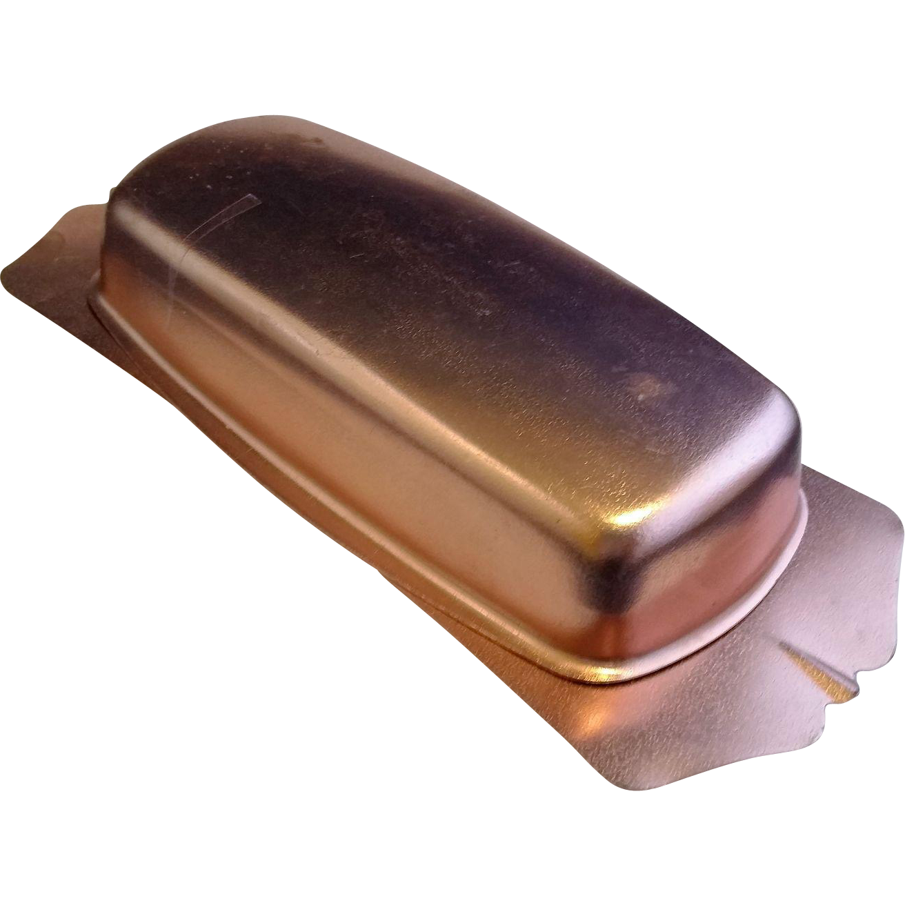 Pink Copper Colored Anodized Aluminum Butter Dish