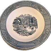 Royal China Currier & Ives Early Winter Rimmed Soup Bowls Set of 5