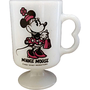 Minnie Mouse Milk Glass Mug Federal Glass Heat Proof