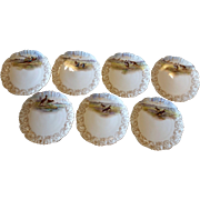 Tresseman & Vogt T&V France Limoges Hand Painted With Transfers Game Birds Salad Plates Set of 7