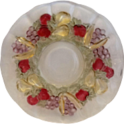 Indiana Glass Garland Banana Fruits Purple Stained Grapes Salad Plate